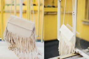 Barbara Boner White Fringe bag