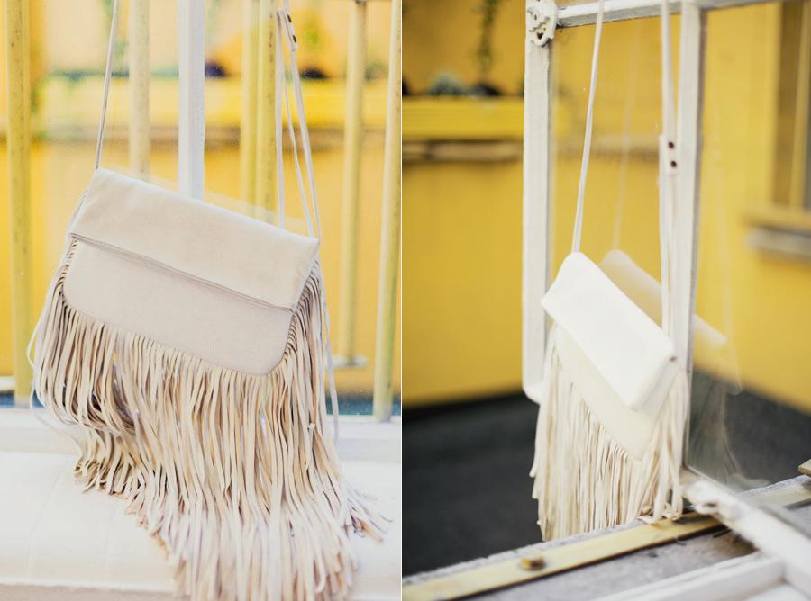 Barbara Boner White Fringe bag